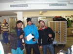 Zinal fee ride 2010, le podium des snowboardeurs